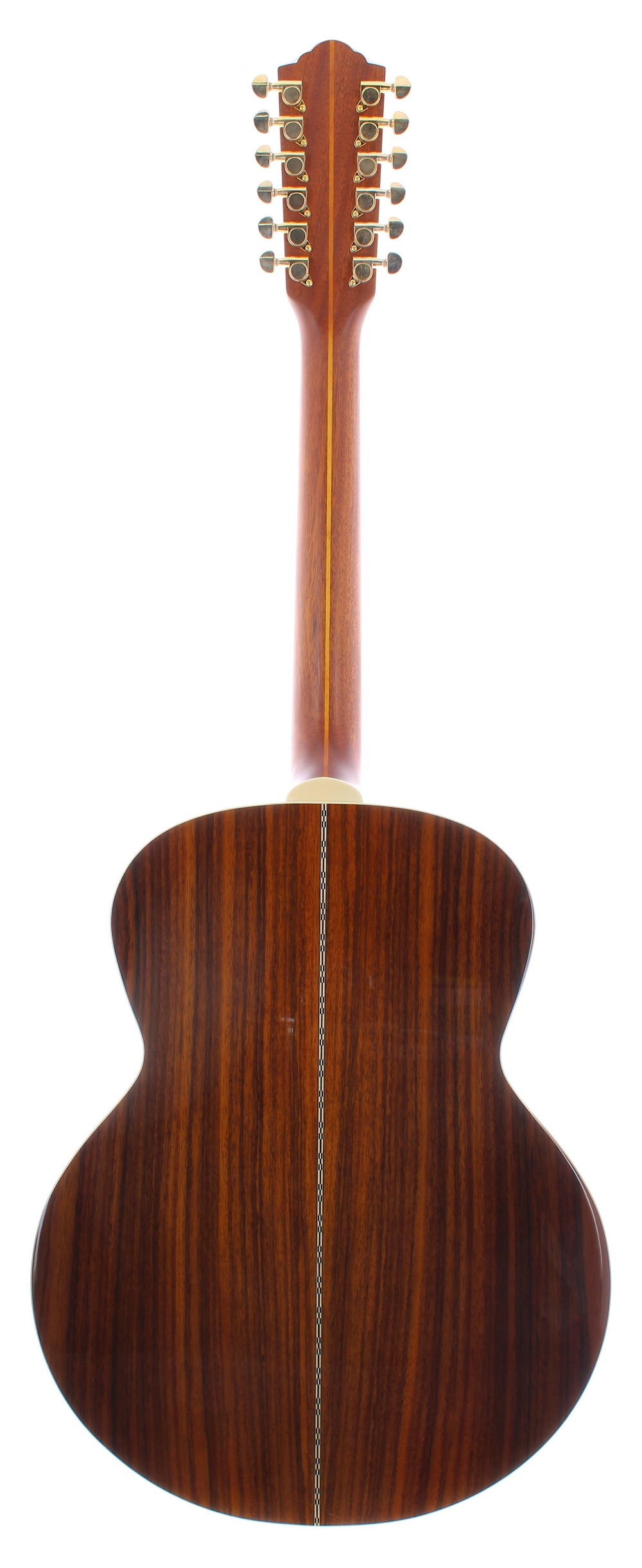 Guild F-1512 twelve string acoustic guitar, made in China, ser. no. GAD-xxxx2; Back and sides: - Image 2 of 3