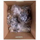 Large quantity of various stringed instruments fittings including pegs, bridges, tailpieces,