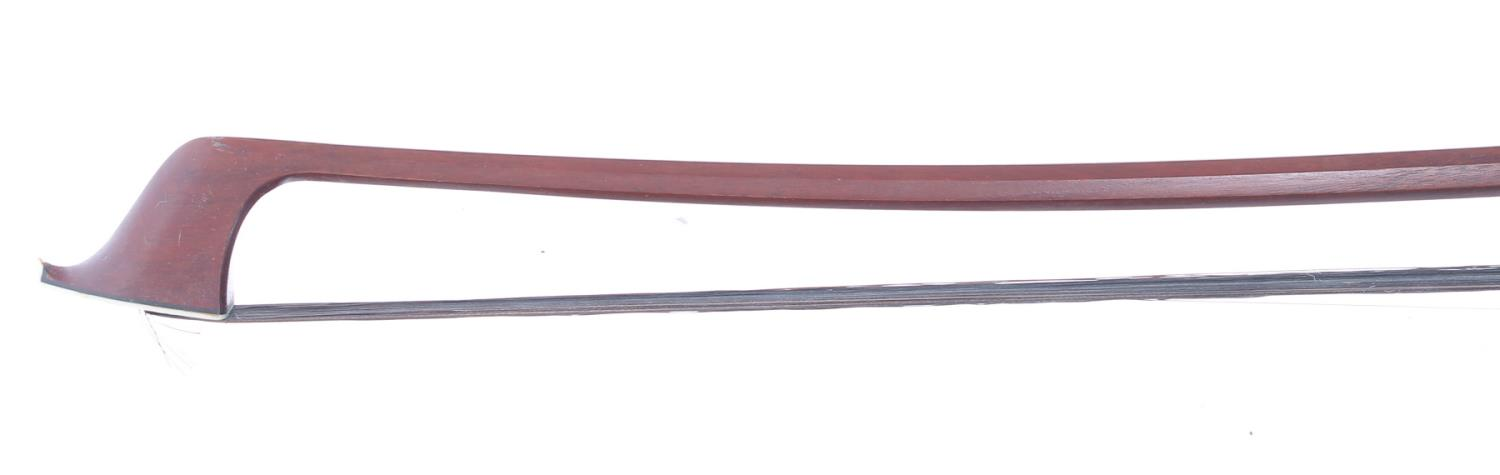 Nickel mounted Dragonetti double bass bow *Please check CITES regulations regarding export of bows - Image 2 of 2