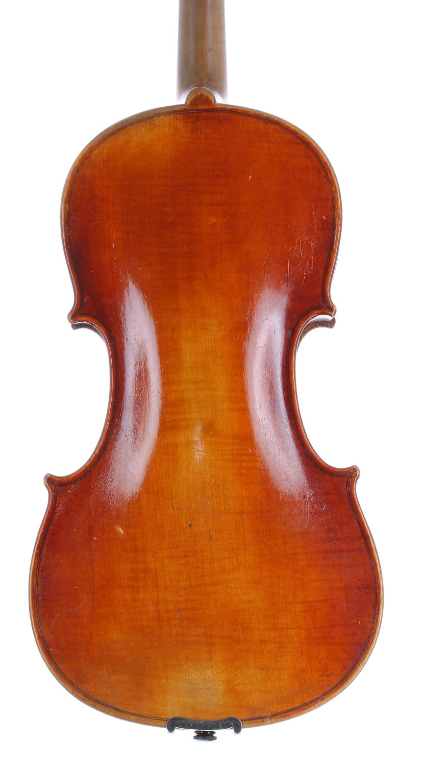 German violin by Neuner & Hornsteiner circa 1890, the one piece back of plainish wood with similar - Image 2 of 3