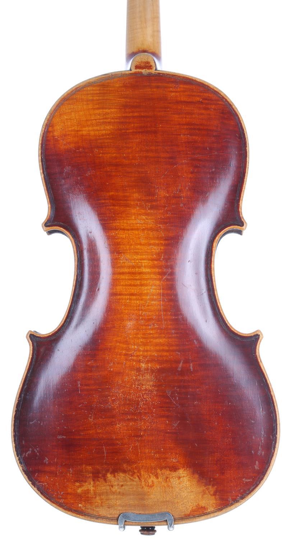 "Early 20th century Stradivari copy violin, 14 3/16"", 36cm - Image 2 of 3"