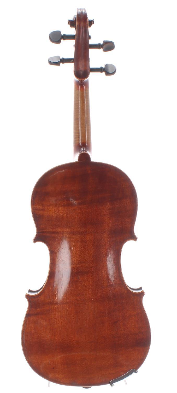 """French JTL half size violin circa 1900, labelled Medio-Fino, 11 7/8"""", 30.20cm, case - Image 2 of 2"""