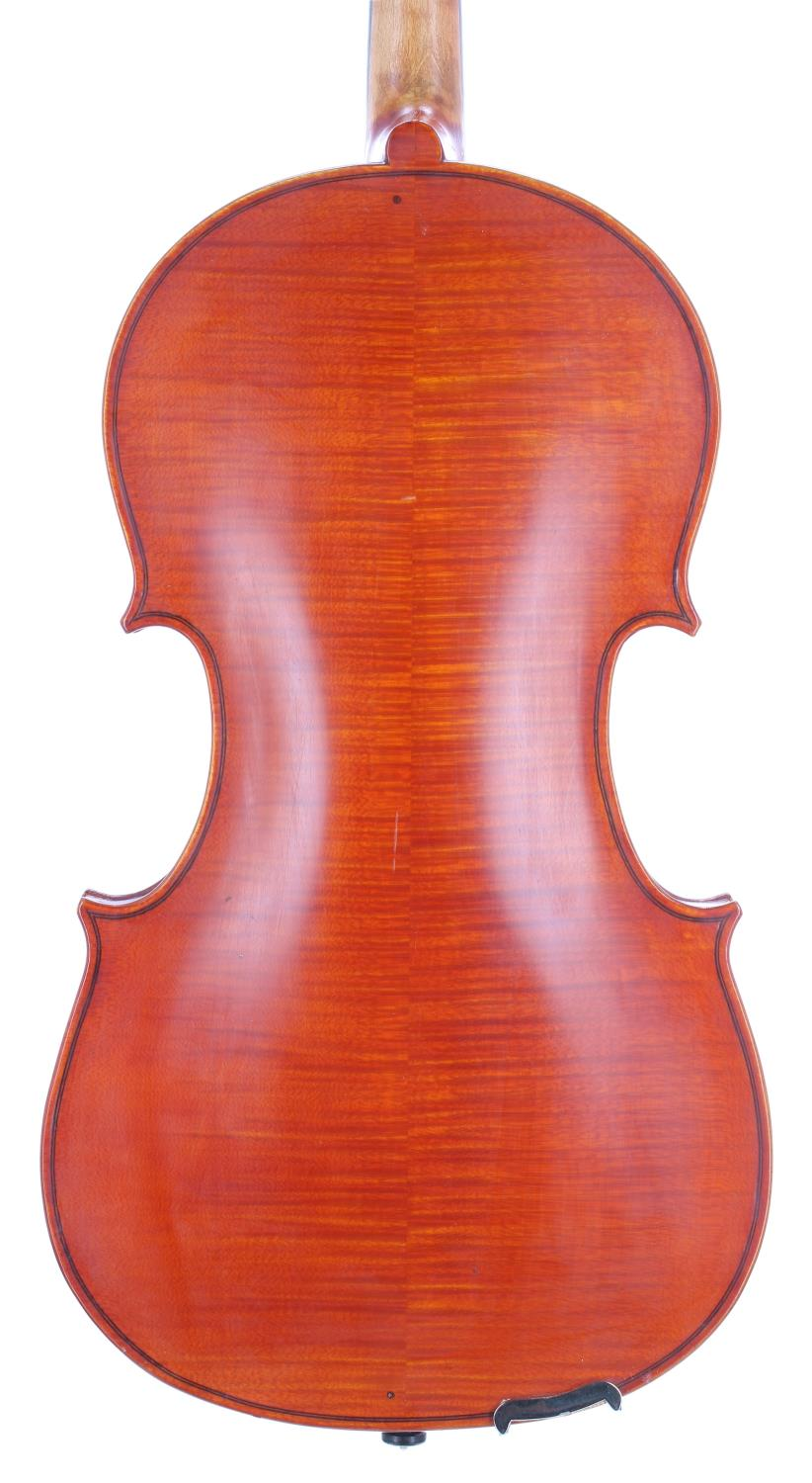 English viola by and labelled Dennis G. Plowright, 22 Murray Road, Northwood, no. 95 (viola no. 59), - Image 2 of 3