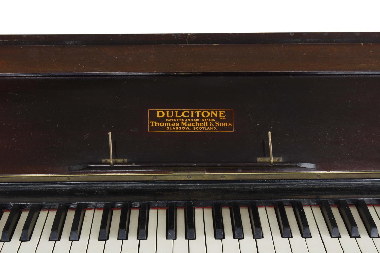 Old mahogany dulcitone inscribed Dulcitone Patentees and Sole Makers Thomas Mahell & Sons, - Image 3 of 4