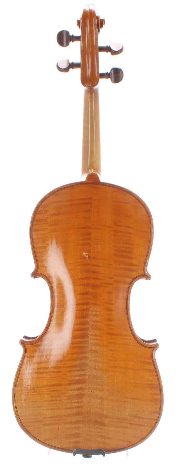 """Early 20th century German violin, unlabelled, 14 3/16"""", 36cm - Image 2 of 2"""