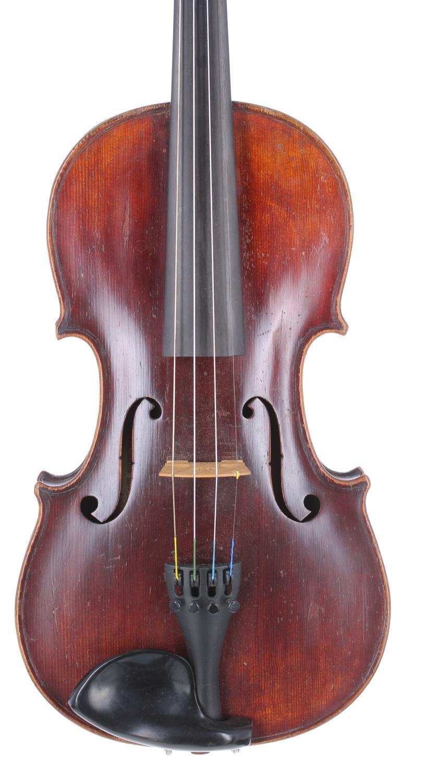 "Early 20th century Stradivari copy violin, 14 3/16"", 36cm"
