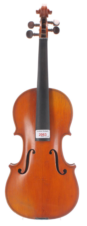 French violin labelled Fait sous la Direction de Leon Bernardel, Luthier, Paris and also labelled