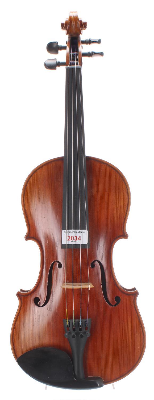 "Contemporary Stradivari model violin, 13 15/16"", 35.40cm"