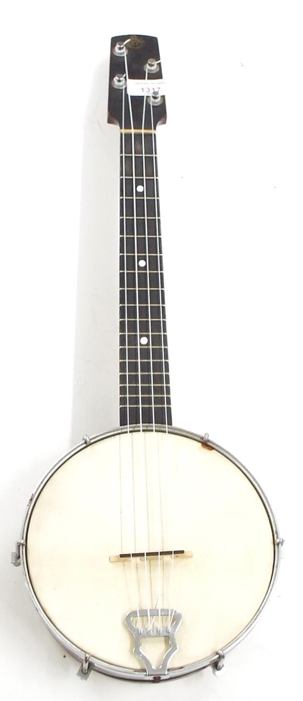 GH & S banjo ukulele, soft bag