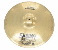 """Paul Chalklin - Sabian 18"""" HH Sound Control Hi-Bell crash ride cymbal, with slip cover"""