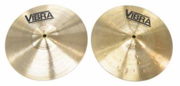 "Paul Chalklin - pair of Zanchi / Vibra 12"" Heavy Band cymbals"