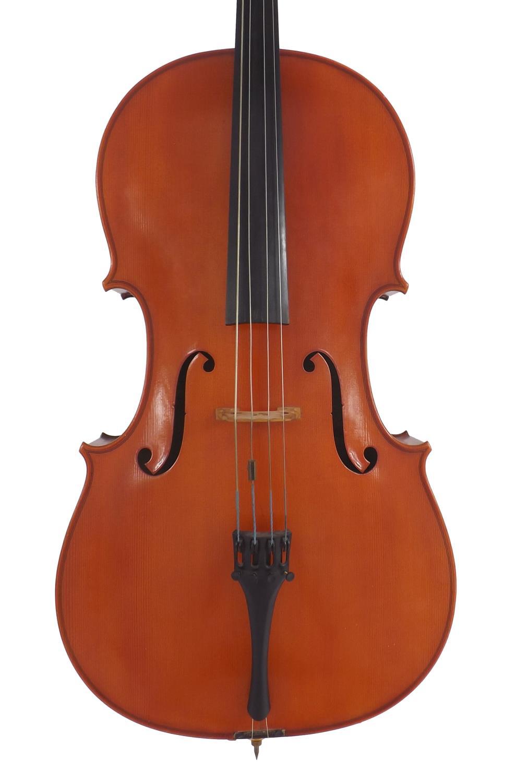 Contemporary violoncello labelled Sevola Cremonese, Fratelli Molini Carlo & Giorgio, fecit Parmae