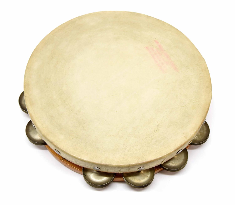 "Paul Chalklin - 10"" tambourine branded on the skin 'Franks Drum Shop Inc, Chicago Illinois'"