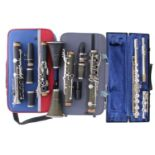 JP021 Model B flat clarinet outfit, case; also a Stagg B flat clarinet outfit and a Blessing metal
