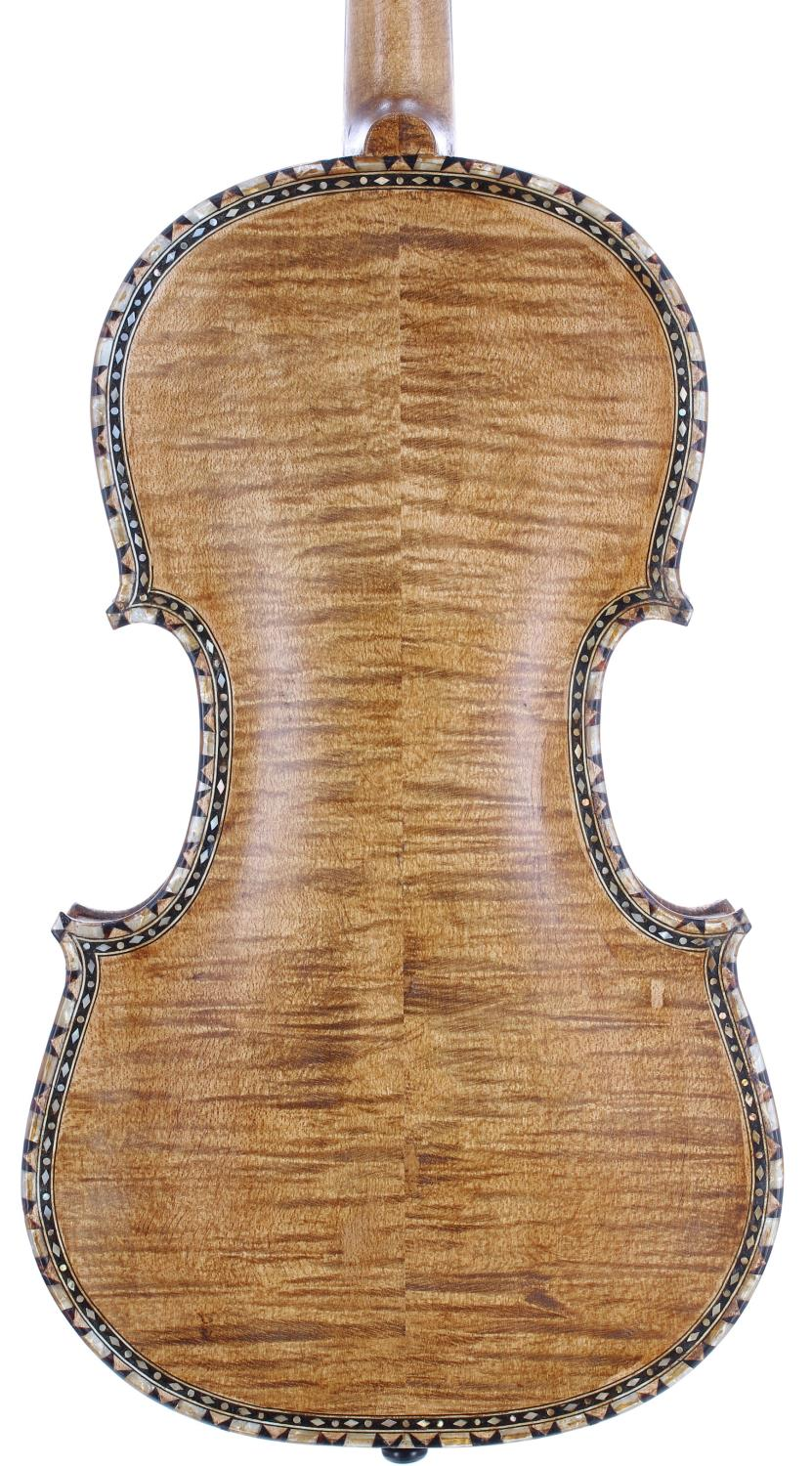 Interesting eight string Hardanger fiddle bearing a retail label inscribed GEH Fergul...1967, with - Image 2 of 3