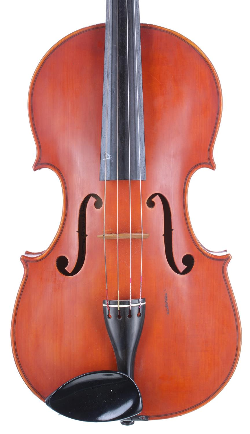 English viola by and labelled Dennis G. Plowright, 22 Murray Road, Northwood, no. 95 (viola no. 59),