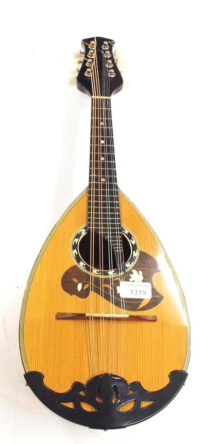 Keizo Suzuki Model 80S bowl back mandolin, made in Japan, with multi-section maple back, spruce top,