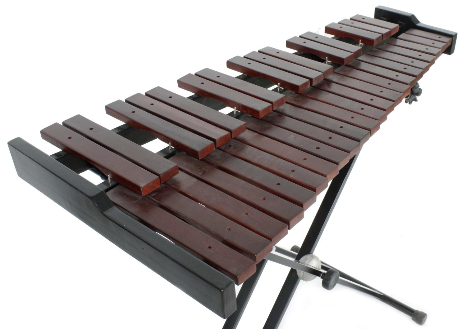"""Contemporary Stagg xylophone on folding stand and with two beaters, 40"""" wide - Image 2 of 2"""