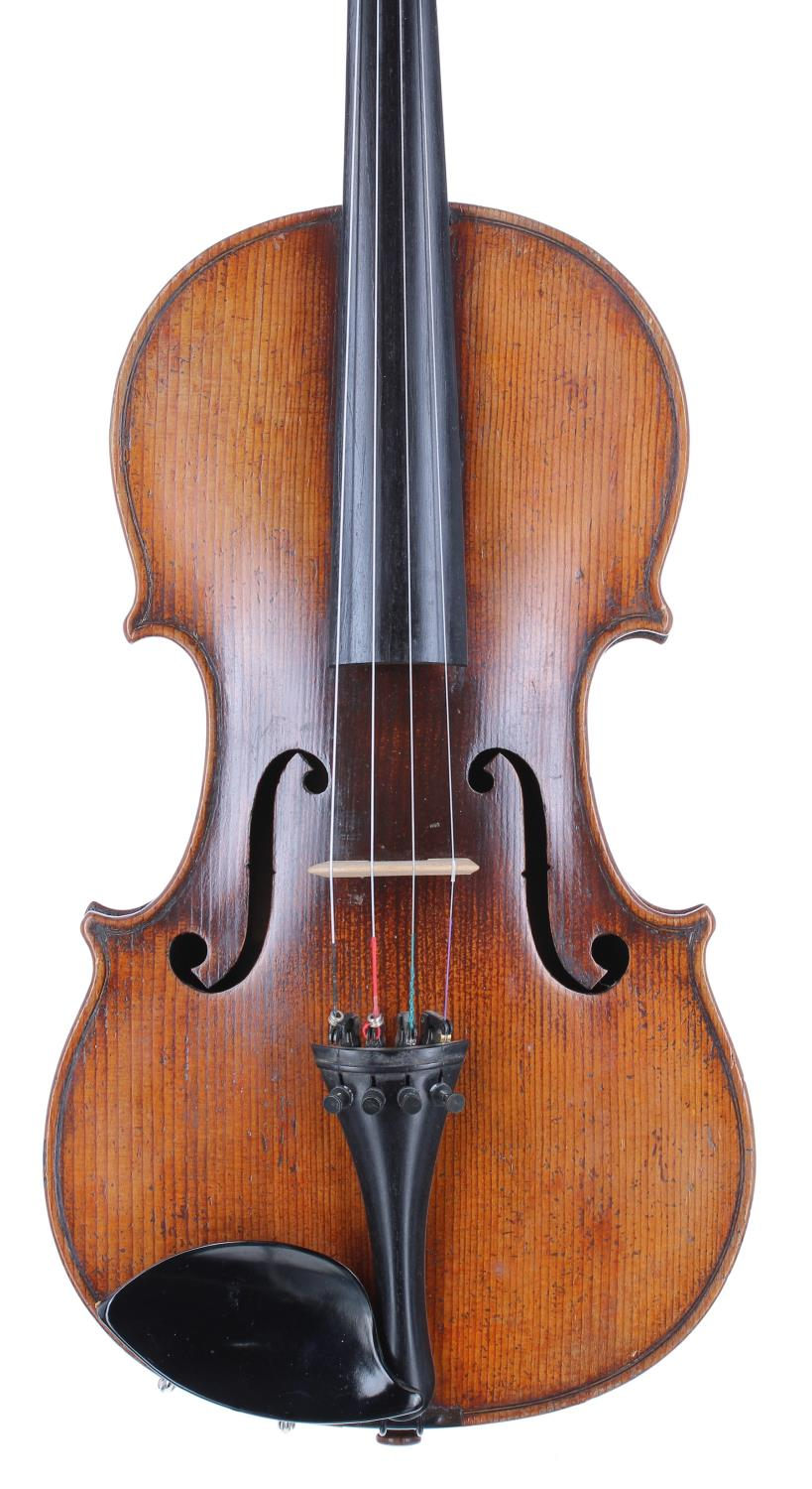 Good French violin of the Caussin School circa 1890 and labelled Antonius Stradivarius..., the one