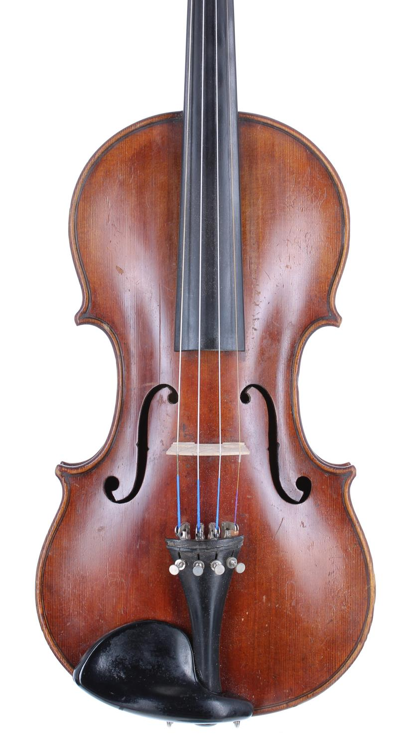 Good French violin labelled Paul Bailly...Paris Annee 1890, the one piece back of medium broad