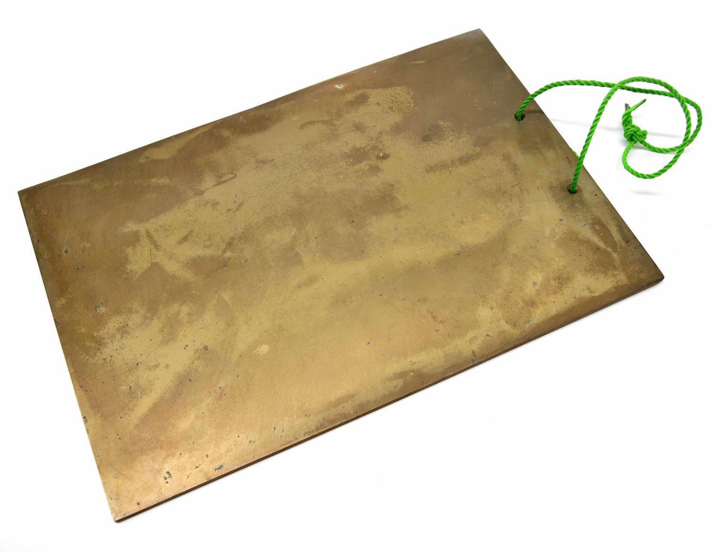 """Paul Chalklin - 15"""" x 10"""" bronze bell plate gong"""