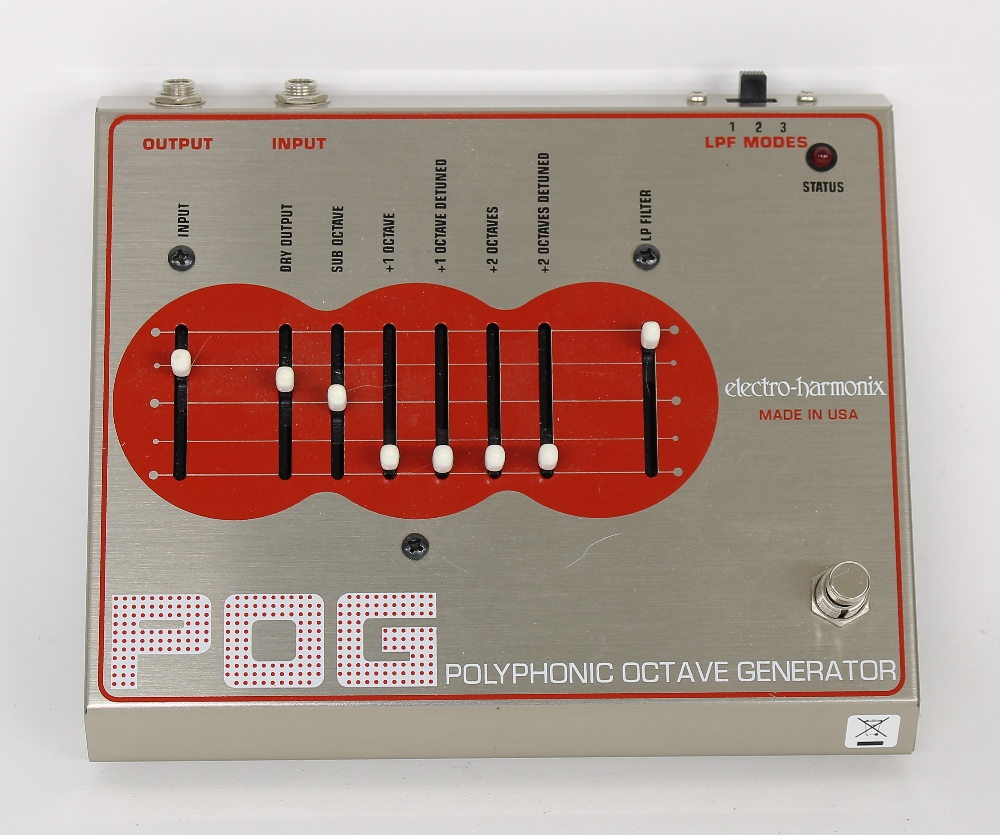 Electro-Harmonix POG Polyphonic Octave generator guitar pedal, made in USA