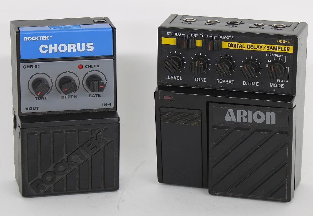 Arion DDS-4 digital delay/sampler pedal; together with a Rocktek chorus guitar pedal (2)