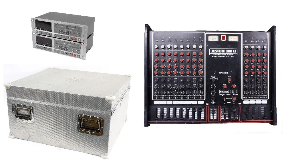 Two Alesis Adat eight track digital audio recorder rack units (both untested), within a Samcine