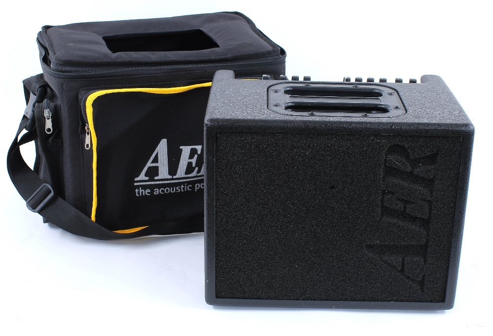 AER Compact 60/2 twin channel acoustic guitar amplifier, with original gig bag
