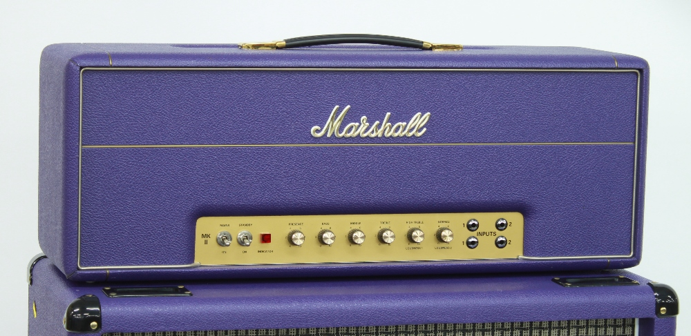 2007 Marshall Model 1959SLP Super Lead 100w MKII guitar amplifier head, made in England, with purple - Image 2 of 3