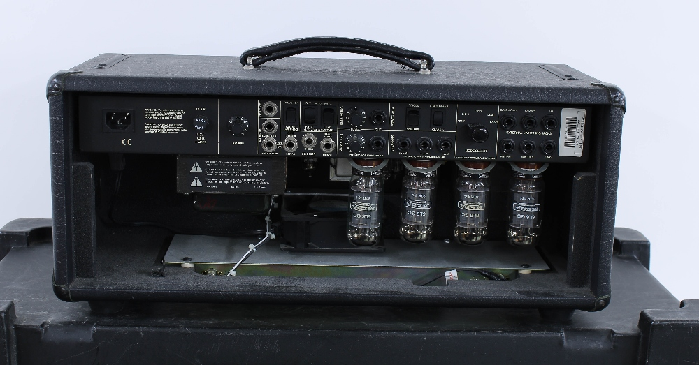 Mesa Boogie Mark IV guitar amplifier head, made in USA, ser. no. IV-009362, with matching 2 x 12 - Image 4 of 4