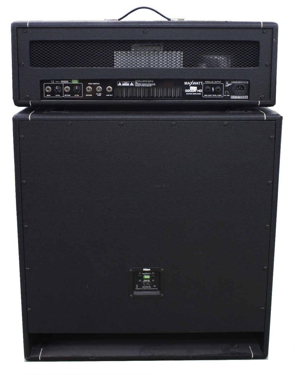 Hiwatt G200RHD guitar amplifier head; together with an M412 4 x 12 speaker cabinet - Image 2 of 4