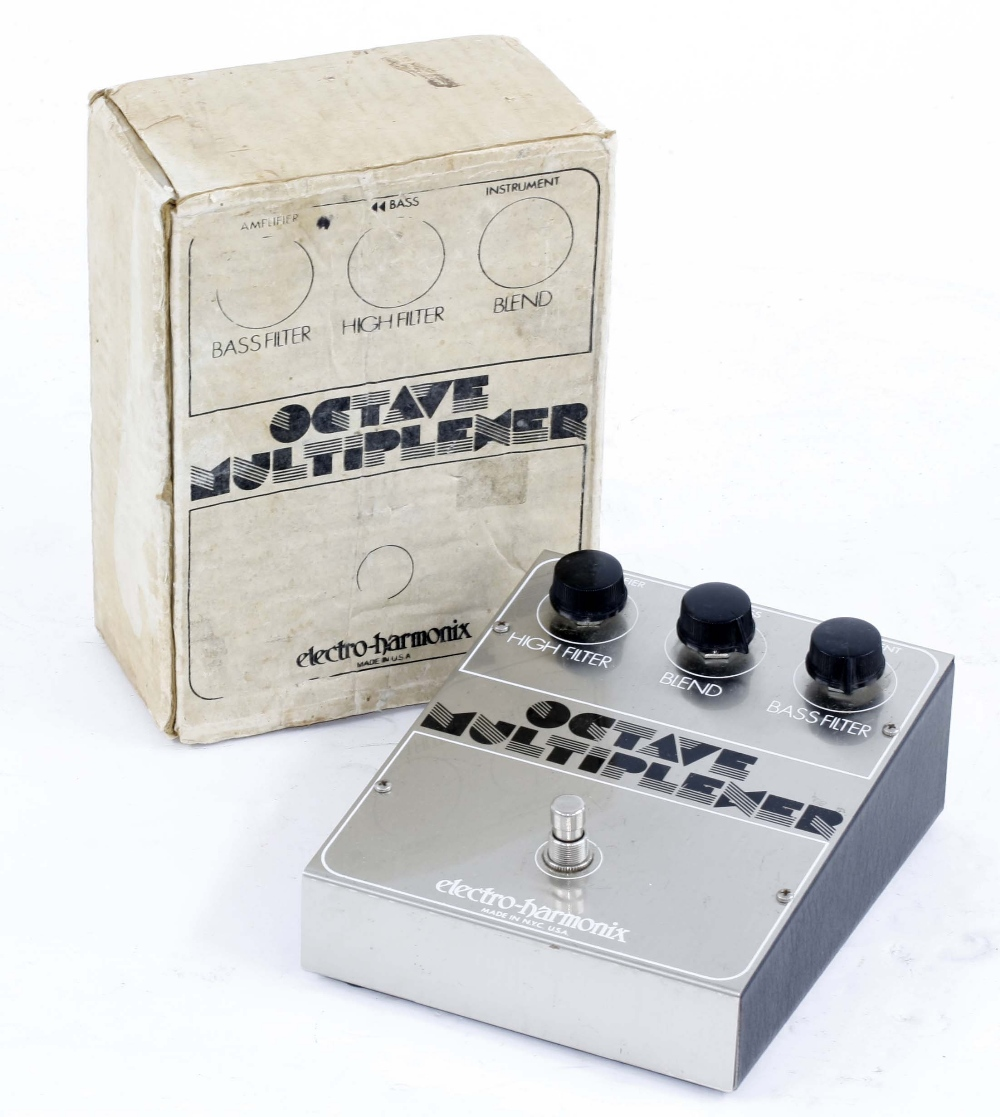 Electro-Harmonix Octave Multiplexer guitar pedal, boxed
