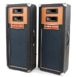 Pair of Simms-Watts 16 ohm column speaker cabinets