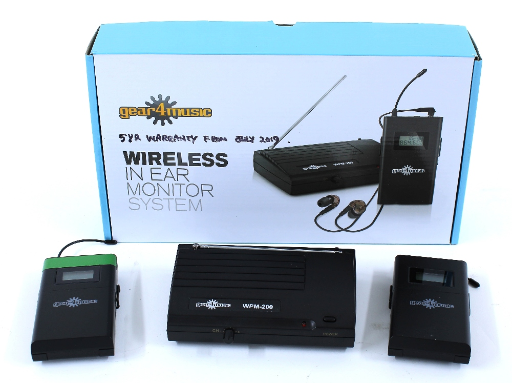 Gear4Music wireless in-ear monitor system, boxed, with extra WPM-200R transmitter