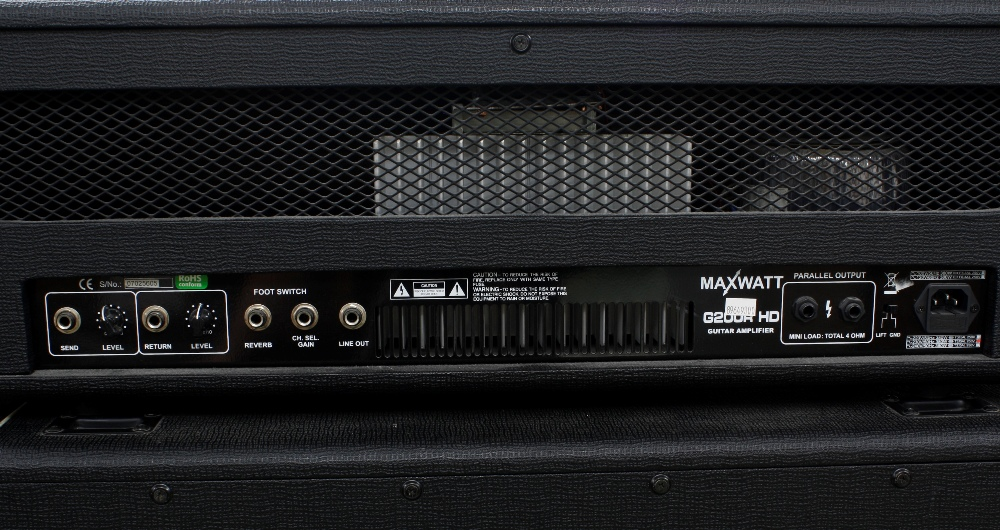 Hiwatt G200RHD guitar amplifier head; together with an M412 4 x 12 speaker cabinet - Image 3 of 4