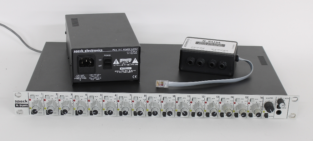 Speck Electronics X.Sum analogue Summing mixer rack unit, sold with Mix-B/link output combo breakout