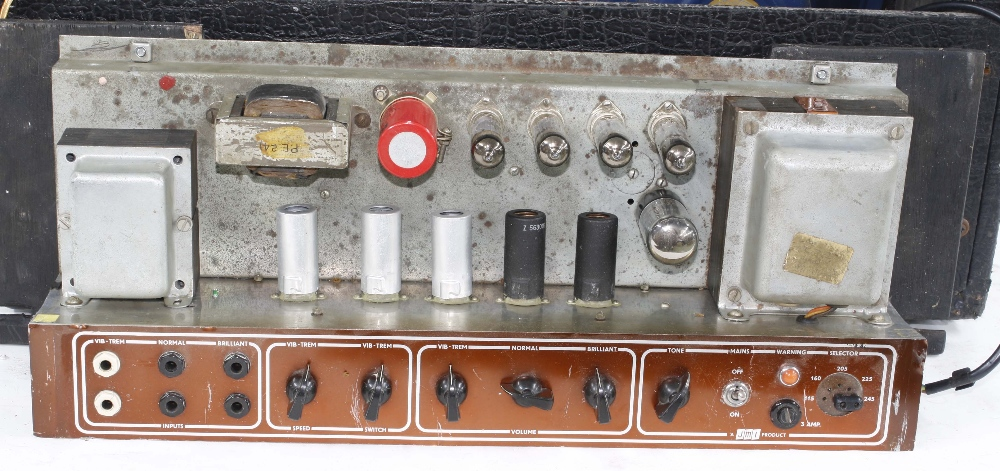 Vox AC30 guitar amplifier, made in England, circa 1964, copper top panel, re-covered, enclosing - Image 3 of 7