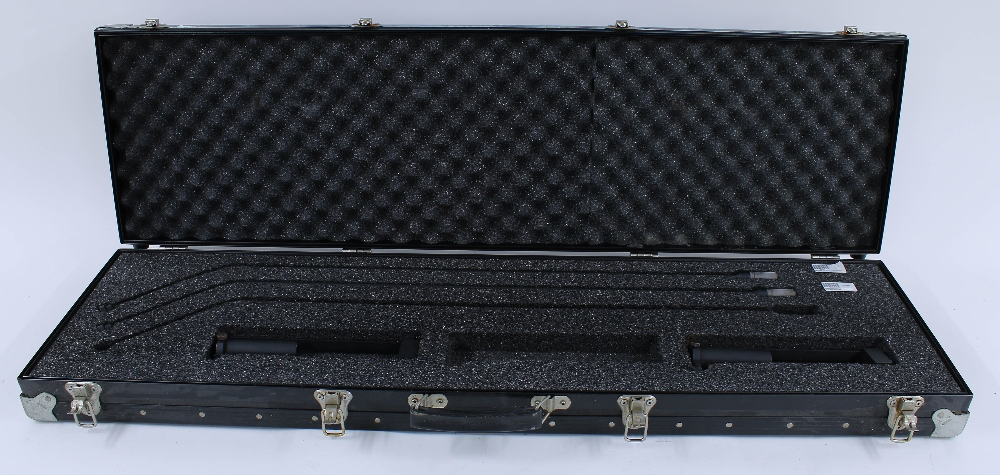 Set of two VR2 extension tubes for AKG 451 series microphones , within a fitted flight case