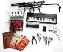 Mixed selection of guitar and other items to include a custom made two-channel amplifier, two guitar