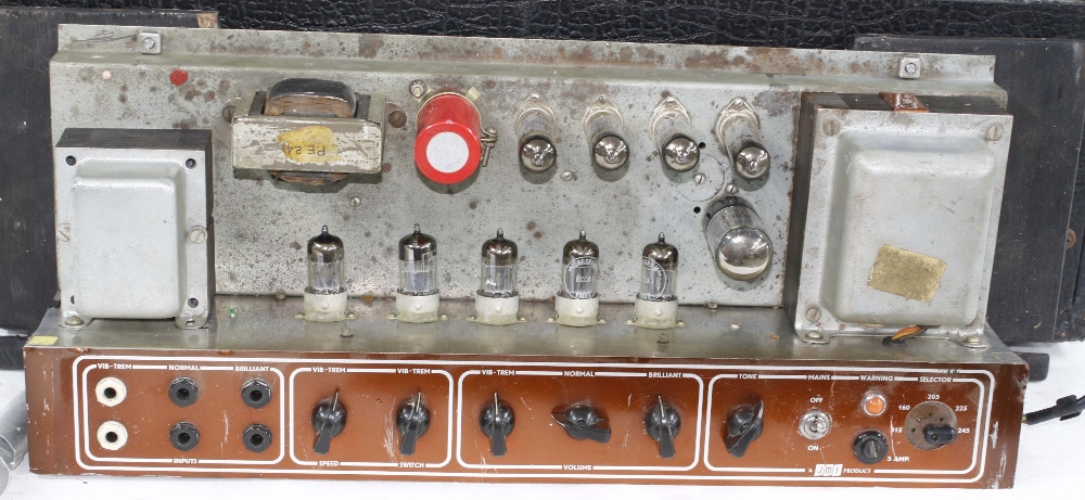 Vox AC30 guitar amplifier, made in England, circa 1964, copper top panel, re-covered, enclosing - Image 4 of 7