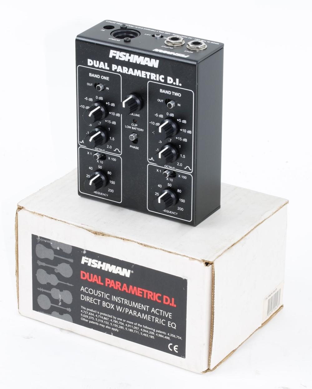 Fishman Dual Parametric DI acoustic instrument box, boxed