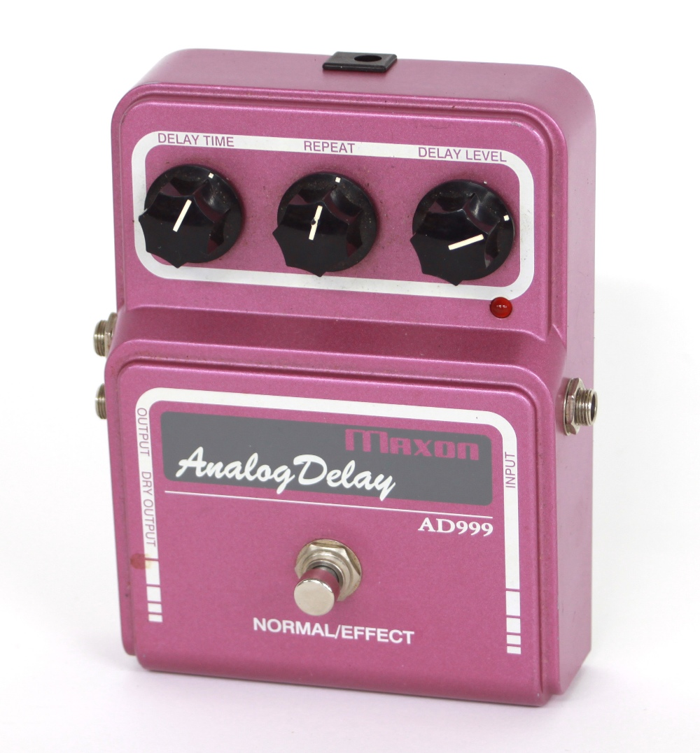 Maxon AD999 analogue delay guitar pedal, made in Japan