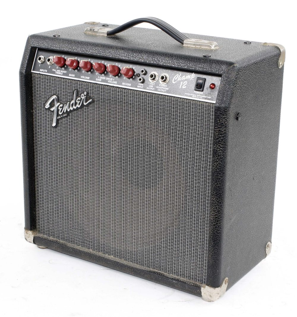1980s Fender Champ 12 guitar amplifier, made in USA, ser. no. L077125