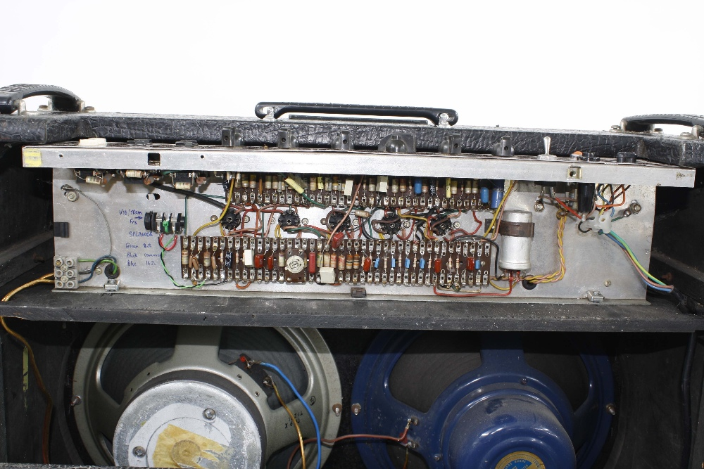 Vox AC30 guitar amplifier, made in England, circa 1964, copper top panel, re-covered, enclosing - Image 5 of 7