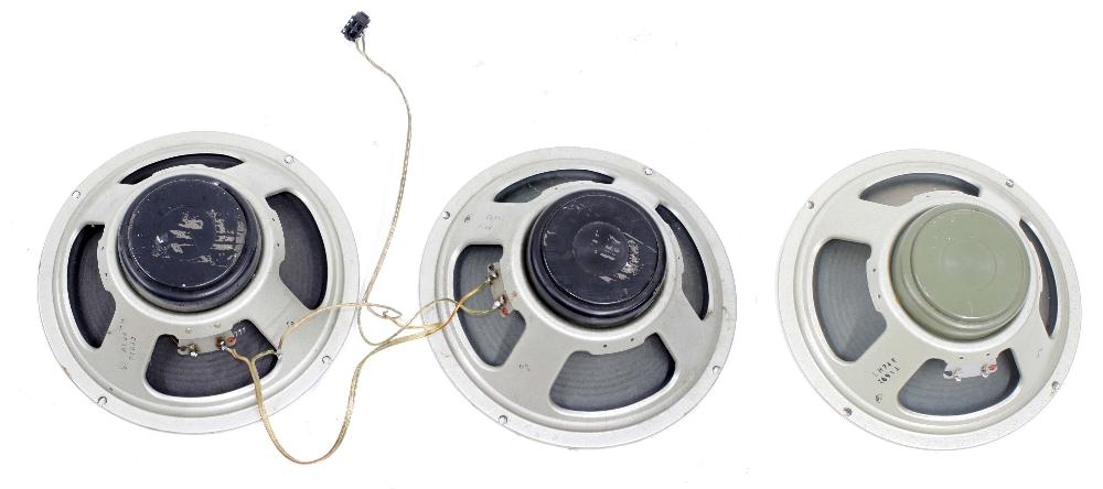 "1970s Celestion T1632 12"" speaker, date code AL26; together with a 1970s Celestion T1692 12"""