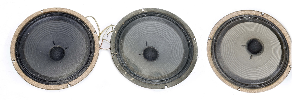 "1970s Celestion T1632 12"" speaker, date code AL26; together with a 1970s Celestion T1692 12"" - Image 2 of 2"