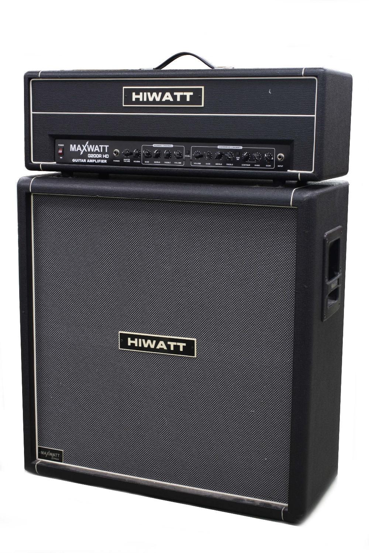 Hiwatt G200RHD guitar amplifier head; together with an M412 4 x 12 speaker cabinet