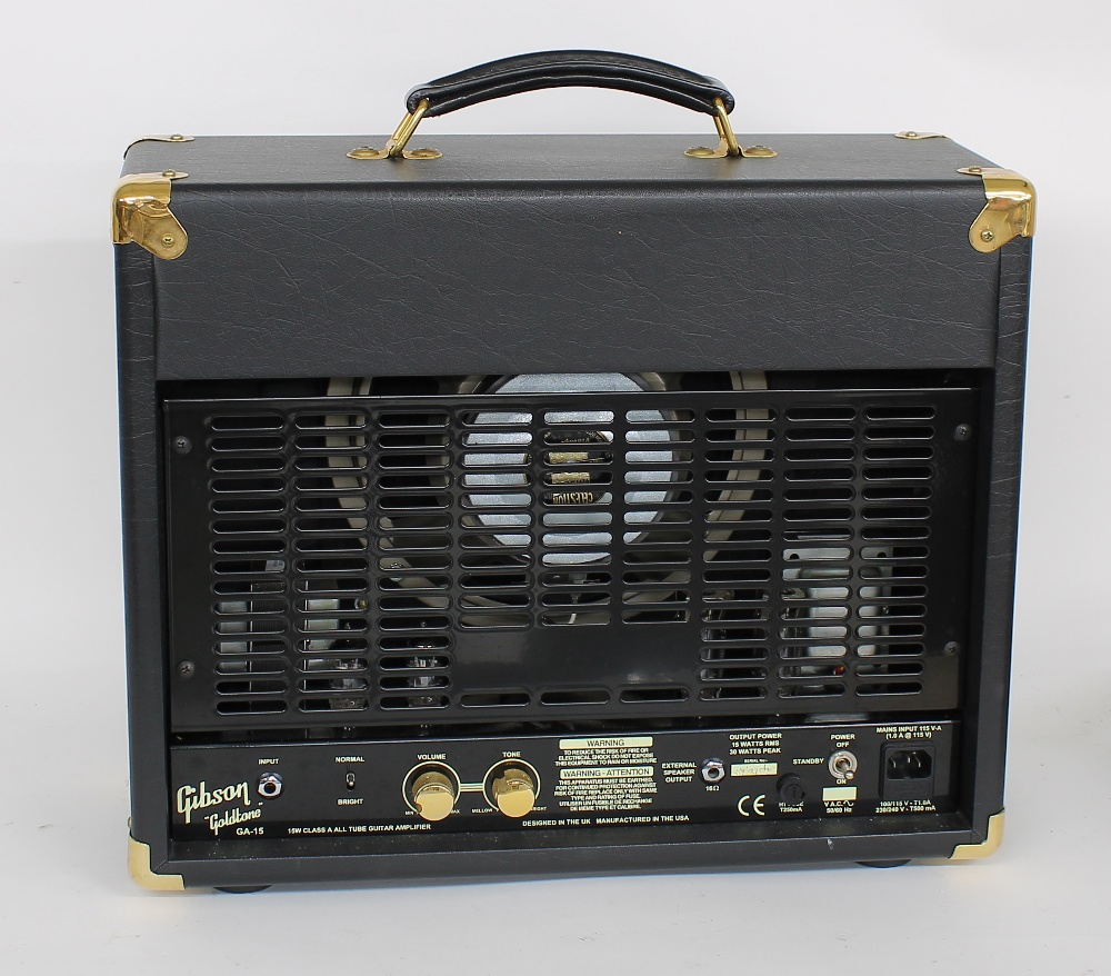 Gibson Goldtone GA-15 guitar amplifier, made in USA, dust cover and manual - Image 2 of 2