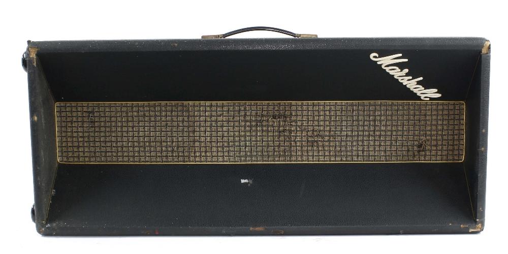 "Marshall column speaker cabinet enclosing a Celestion T1927 10"" speaker stamped BF22V and a - Image 2 of 3"